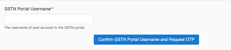 GST Portal login page