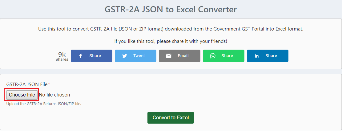 Choose the JSON file