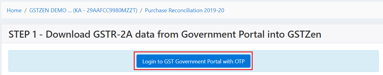 Login to government portal with OTP