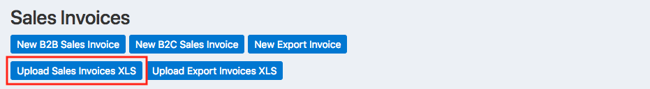 Upload Sales Invoices Button