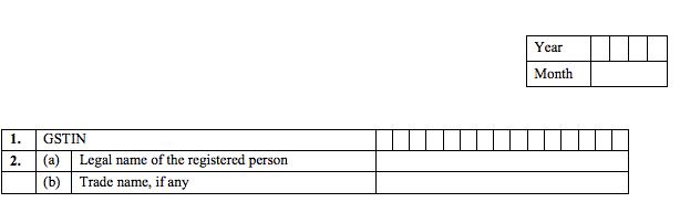 GSTR-6 Table 1