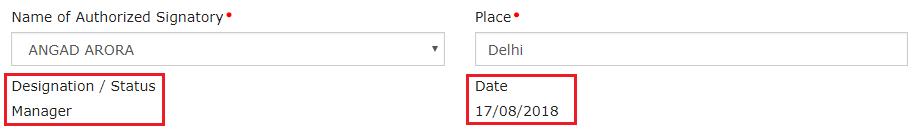 Enter Verification details