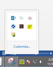 emSigner icon in the taskbar
