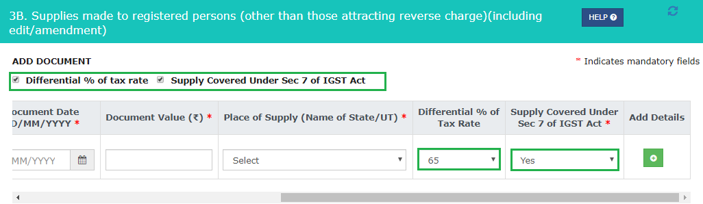 Differential tax rate percentage