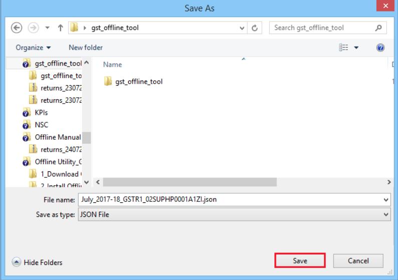 Save JSON file