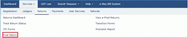 Click File Return