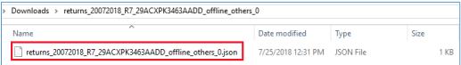 Unzip JSON file