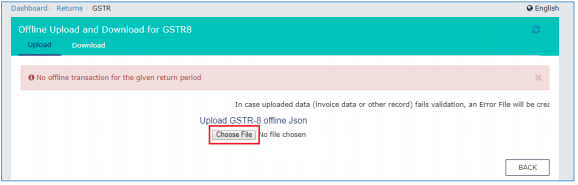 Click Choose file