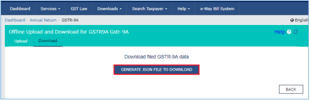 Click Generate JSON file to download