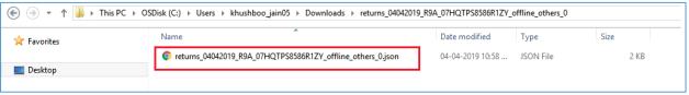 Unzip downloaded file