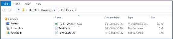 unzip the downloaded folder