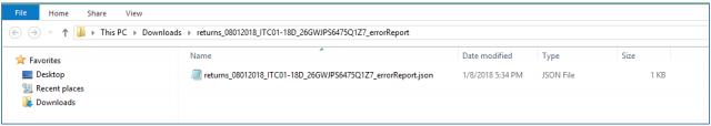 Click Open Downloaded ITC-01 JSON/Error File