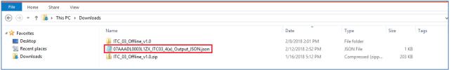 JSON file created
