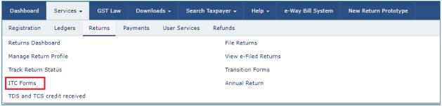 click ITC form