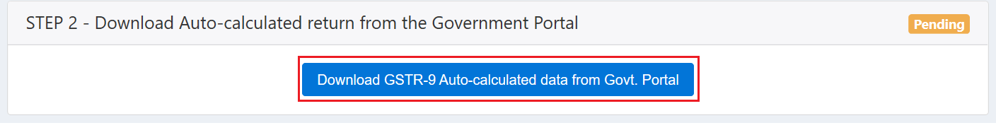 Download Auto-calculated return from the Government Portal
